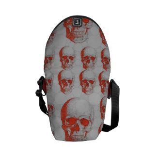 Red Grey Skulls Courier Bag
