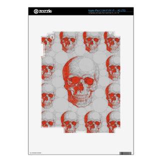 Red Grey Skulls iPad 3 Decals