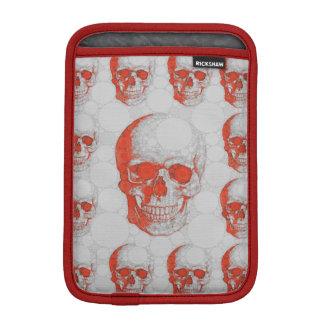 Red Grey Skulls iPad Mini Sleeves