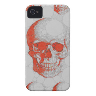Red Grey Skulls iPhone 4 Covers