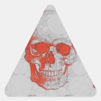 Red Grey Skulls Triangle Sticker