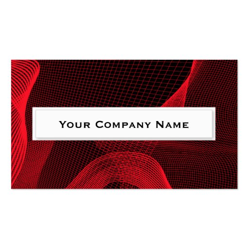 Red Grid Business Cards