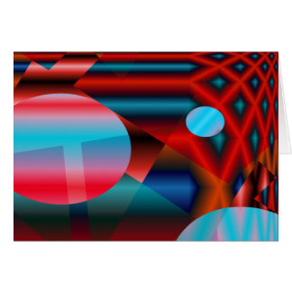 Red Grid Greeting Cards