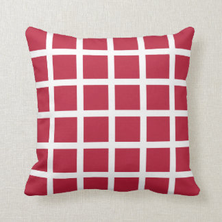 Red Grid Pattern Pillow