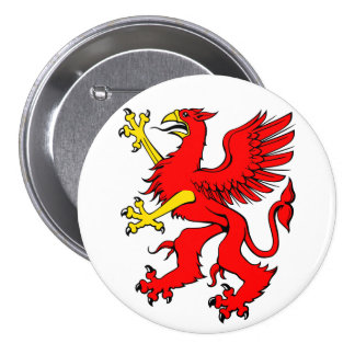 Red Griffin Button