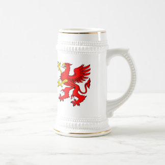 Red Griffin Day Stein Coffee Mugs