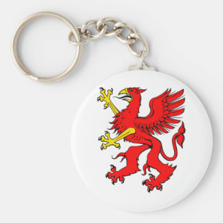 Red Griffin/Griffon/Gryphon Keychains