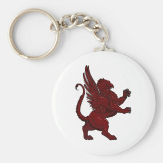 Red Griffin Keychain