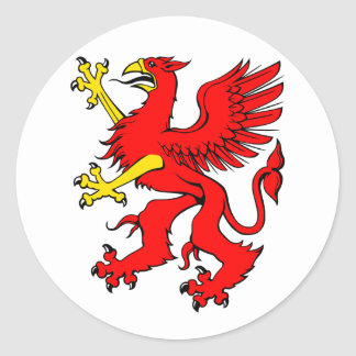 Red Griffin Stickers