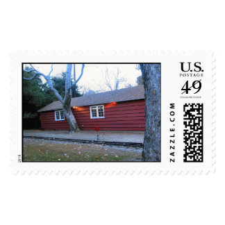 Red Griffith Park House Custom Postae Postage