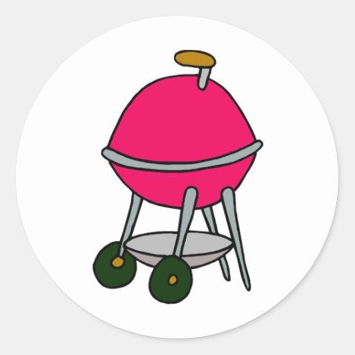 Red Grill Classic Round Sticker