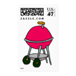 Red Grill Postage Stamp