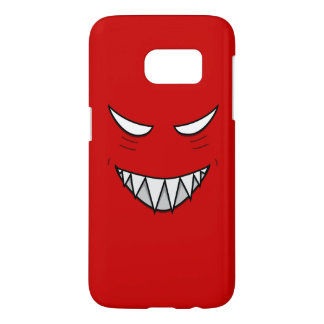 Red Grinning Face With Evil Eyes Samsung Galaxy S7 Case