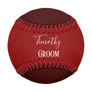 Red Groom Souvenir Baseball