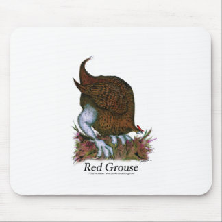Red Grouse bird, tony fernandes Mouse Pad