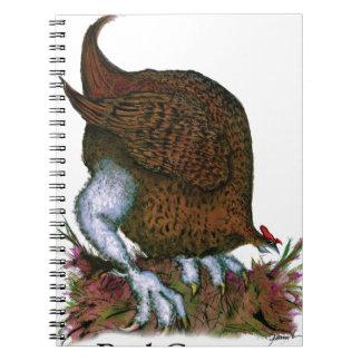 Red Grouse bird, tony fernandes Notebook