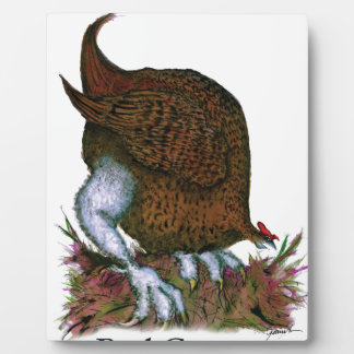 Red Grouse bird, tony fernandes Plaque