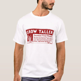 "Red ""GROW TALLER"" T-shirt"