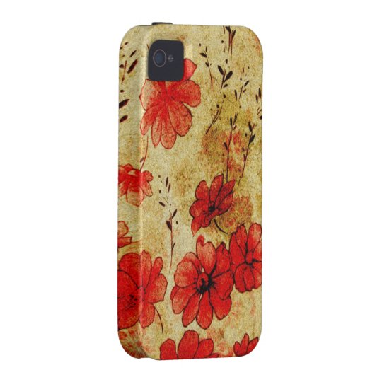 Red Grunge Casemate iPhone 4 iPhone 4 Cover