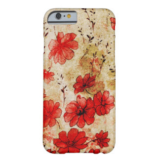 Red Grunge Floral Barely There iPhone 6 Case