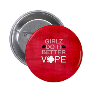 Red Grunge Girly Vape Button