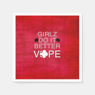 Red Grunge Girly Vape Paper Napkin