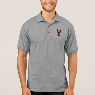 Red Grunge Lobster Polo Shirt