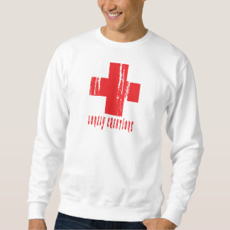 RED GRUNGE LONELY CREATIONS POSITIVE SWEATSHIRT