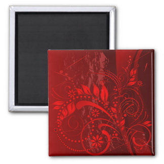 red grunge magnet