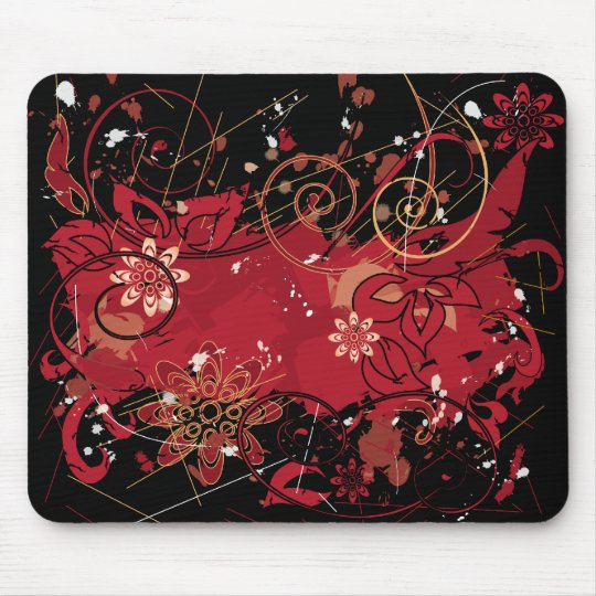 red grunge mouse pad