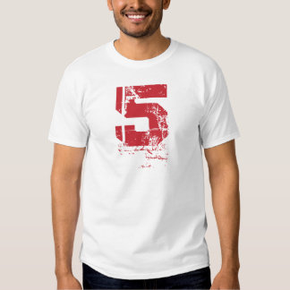 RED GRUNGE NUMBER 5 T-Shirt