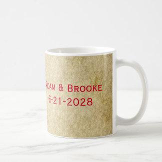 Red Grunge Old Vintage Wedding Gift Favor Mug
