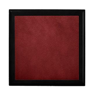 Red Grunge Pebble Leather Keepsake Box