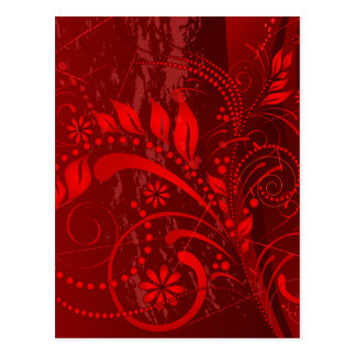 red grunge postcard