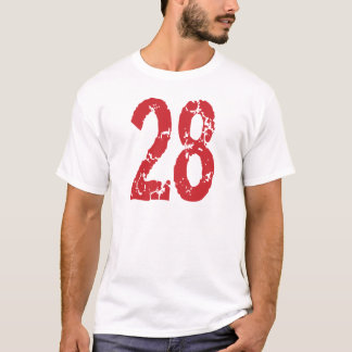 RED GRUNGE STYLE NUMBER 28 T-Shirt