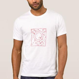 Red grunge style transgender symbol T-Shirt