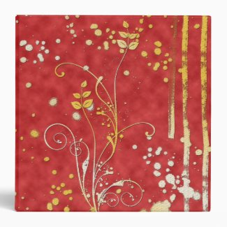 Red Grungy Pattern Binder