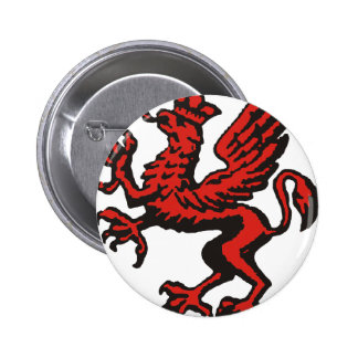 Red Gryphon Button