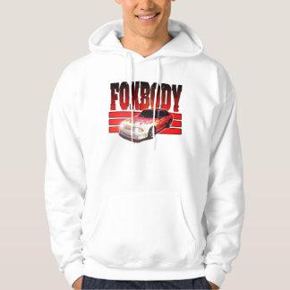 Red Gt Foxbody with flames, Hoodie Wyldfantasies