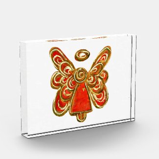Red Guardian Angel Art Paperweights Acrylic Award