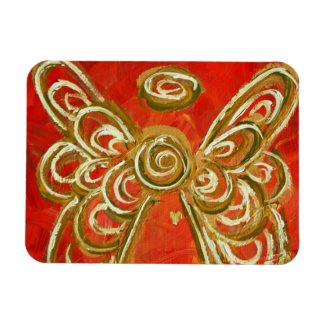 Red Guardian Angel Custom Magnet Art Painting