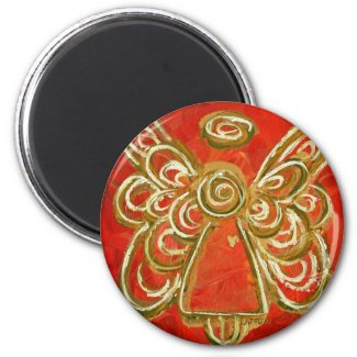Red Guardian Angel Gift Magnets