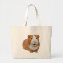 red guinea pig large tote bag