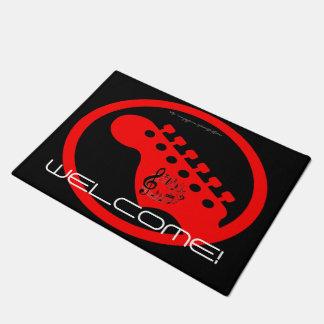 """""""Red Guitar"""" Doormat"""
