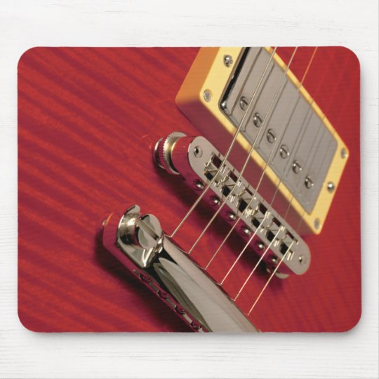 red guitar mouse pad