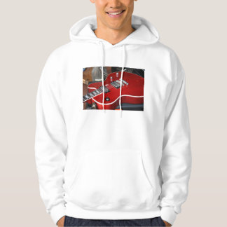 Red guitar on amp hoodie