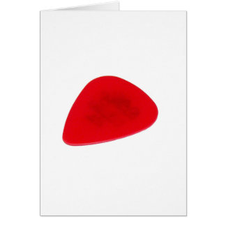 Red Guitar Pick Greeting Cards