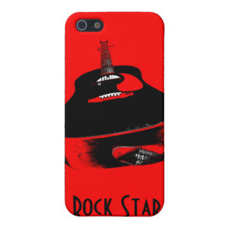 Red Guitar Rock Star Music Instrument iPhone Case