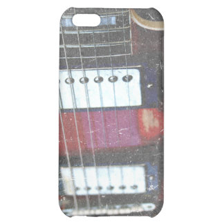 red guitar strings bridge grunge music design case for iPhone 5C