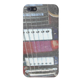 red guitar strings bridge grunge music design covers for iPhone 5